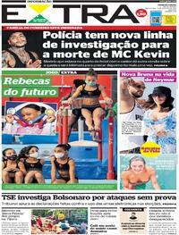 Capa do jornal Extra 03/08/2021