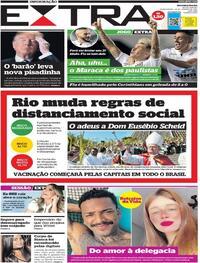 Capa do jornal Extra 14/01/2021