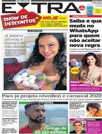 Capa do jornal Extra 15/05/2021