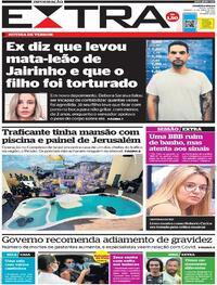 Capa do jornal Extra 17/04/2021