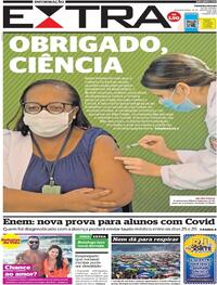Capa do jornal Extra 18/01/2021