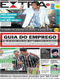 Capa do jornal Extra 18/04/2021