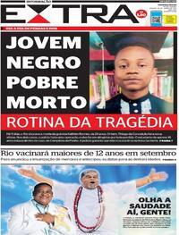 Capa do jornal Extra 19/06/2021