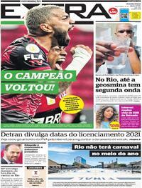 Capa do jornal Extra 22/01/2021