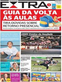 Capa do jornal Extra 24/01/2021