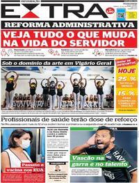 Capa do jornal Extra 25/09/2021