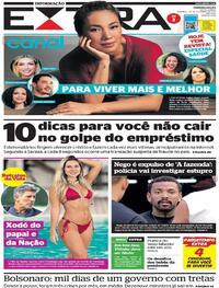 Capa do jornal Extra 27/09/2021