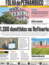 Capa Folha de Pernambuco 2018-12-11