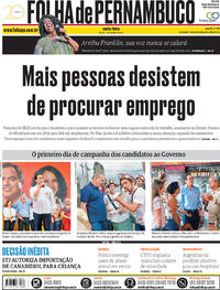 Capa Folha de Pernambuco 2018-08-17