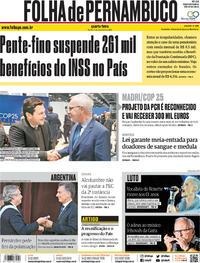 Capa Folha de Pernambuco 2019-12-11