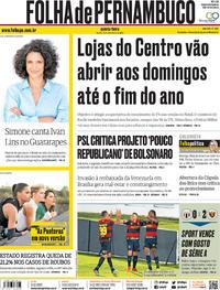 Capa Folha de Pernambuco 2019-11-14