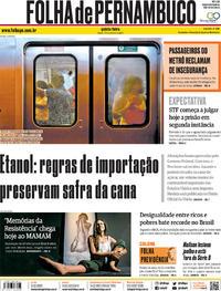 Capa Folha de Pernambuco 2019-10-17