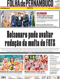 Capa Jornal Folha de Pernambuco