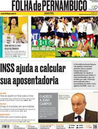 Capa Folha de Pernambuco 2019-06-24