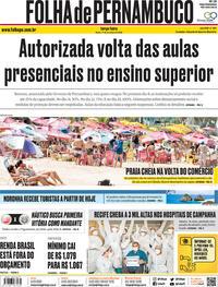 Capa do jornal Folha de Pernambuco 01/09/2020