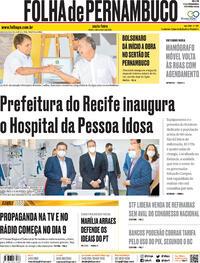 Capa do jornal Folha de Pernambuco 02/10/2020
