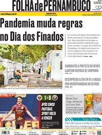 Capa do jornal Folha de Pernambuco 02/11/2020