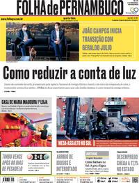 Capa do jornal Folha de Pernambuco 02/12/2020
