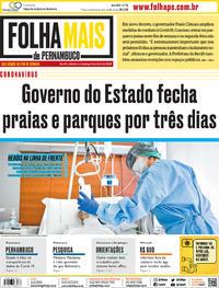 Capa do jornal Folha de Pernambuco 04/04/2020