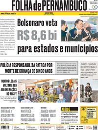 Capa do jornal Folha de Pernambuco 04/06/2020