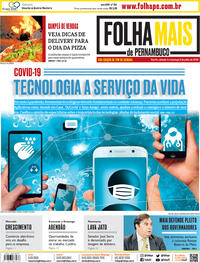 Capa do jornal Folha de Pernambuco 04/07/2020