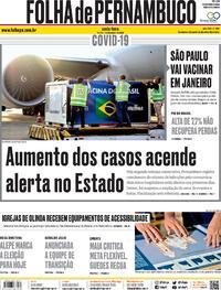 Capa do jornal Folha de Pernambuco 04/12/2020