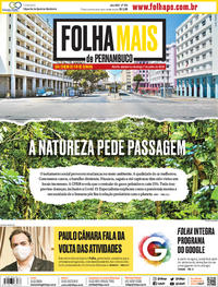 Capa do jornal Folha de Pernambuco 06/06/2020