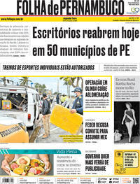 Capa do jornal Folha de Pernambuco 06/07/2020