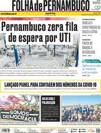 Capa do jornal Folha de Pernambuco 08/06/2020