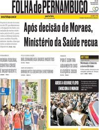 Capa do jornal Folha de Pernambuco 10/06/2020
