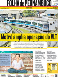 Capa do jornal Folha de Pernambuco 10/08/2020