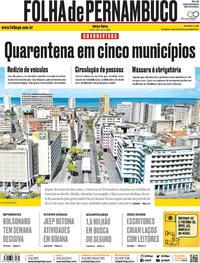 Capa do jornal Folha de Pernambuco 12/05/2020