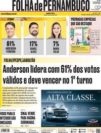 Capa do jornal Folha de Pernambuco 12/11/2020