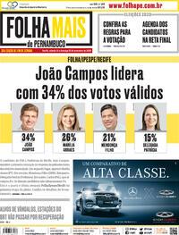 Capa do jornal Folha de Pernambuco 14/11/2020
