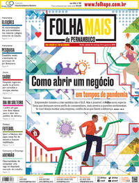 Capa do jornal Folha de Pernambuco 15/08/2020