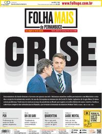 Capa do jornal Folha de Pernambuco 16/05/2020