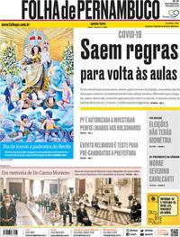 Capa do jornal Folha de Pernambuco 16/07/2020