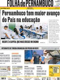 Capa do jornal Folha de Pernambuco 16/09/2020
