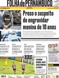Capa do jornal Folha de Pernambuco 19/08/2020