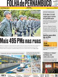 Capa Folha de Pernambuco 2020-01-21