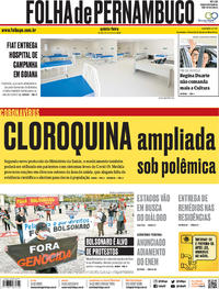 Capa do jornal Folha de Pernambuco 21/05/2020