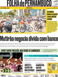 Capa do jornal Folha de Pernambuco 21/09/2020