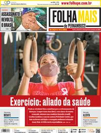 Capa do jornal Folha de Pernambuco 21/11/2020