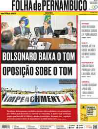 Capa do jornal Folha de Pernambuco 22/05/2020