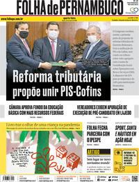 Capa do jornal Folha de Pernambuco 22/07/2020
