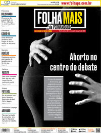 Capa do jornal Folha de Pernambuco 22/08/2020