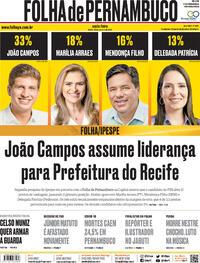 Capa do jornal Folha de Pernambuco 23/10/2020