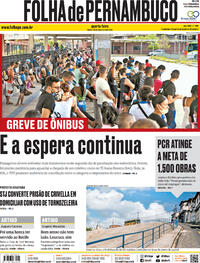 Capa do jornal Folha de Pernambuco 23/12/2020