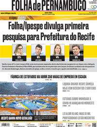 Capa do jornal Folha de Pernambuco 25/09/2020
