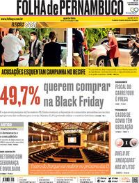 Capa do jornal Folha de Pernambuco 25/11/2020